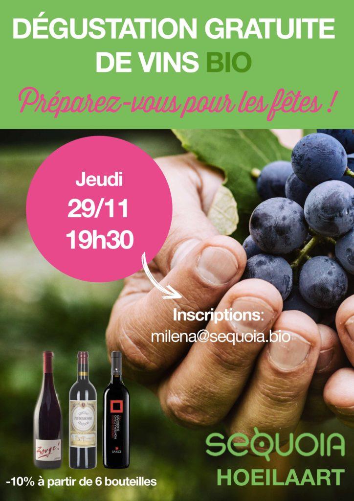 Soirée dégustation de vins bio à Hoeilaart!