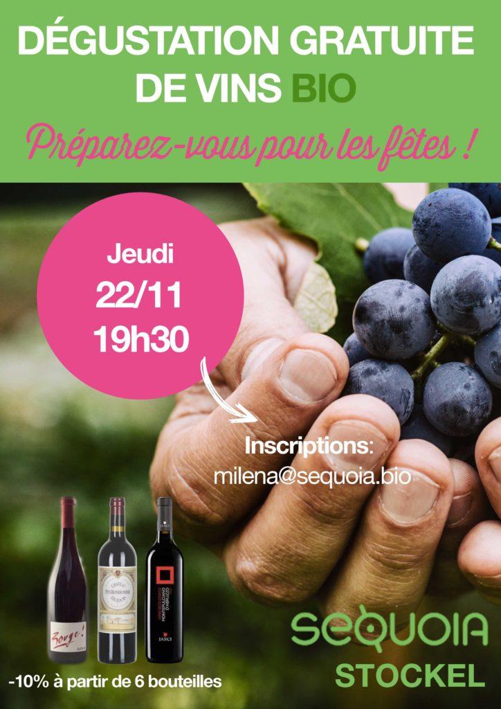 Soirée dégustation de vins bio à Stockel!